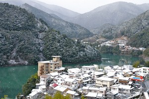 雪の十津川温泉