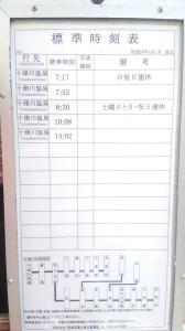西中バス停時刻表